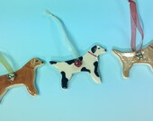Dog Ornament - Personalize it! – Pet Gift / Christmas / Holiday / Ceramic Dog Ornament / Customized - READY TO SHIP