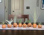 Pumpkin - Small Ceramic wheel thrown / fall decor - READY TO SHIP