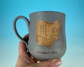 Columbus, Ohio Skyline Mug in Gray // Handmade ceramic mug // Gifts  for Ohioans, Travelers, College Students - READY TO SHIP