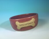 "Pink Dog Bowl with ""..."
