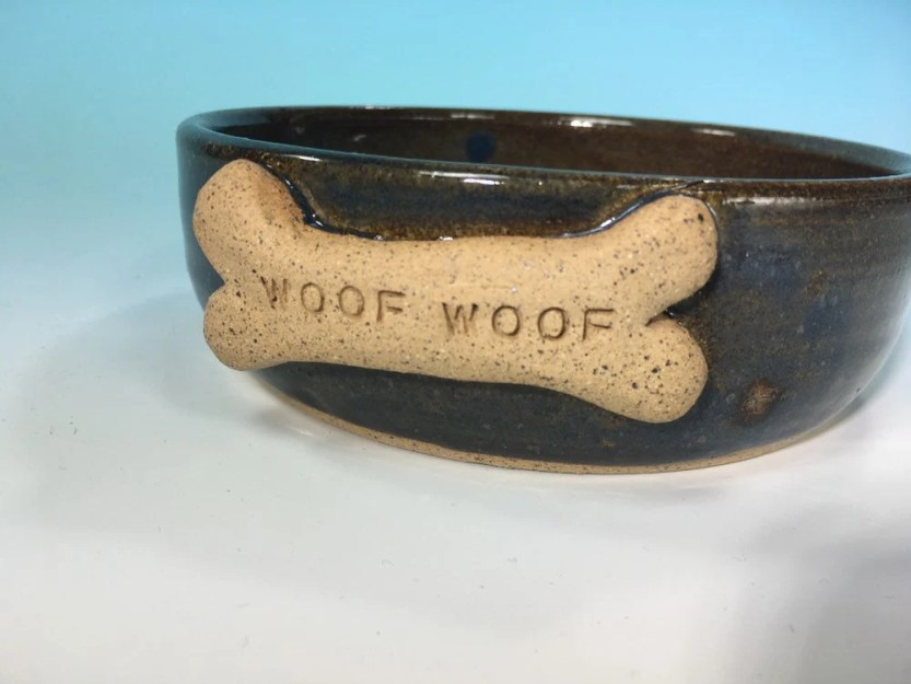 Dog Bowl in Denim blue + ...