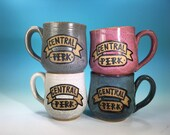 Central Perk Mug // Inspired by Friends // Handmade in Various Colors, Speckled Brown Clay // Gifts for Her - MADE TO ORDER