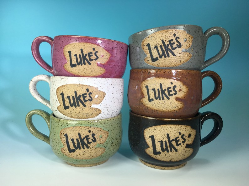 Luke' Diner Latte Mug // Inspired by the Gilmore Girls // Handmade in Various Colors, Speckled Brown Clay // Gifts for Her - READY TO SHIP