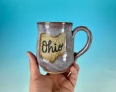 Ohio Mug in Lavender // Handmade Ceramic Mug // Gifts  for Ohioans, Travelers or College Students - READY TO SHIP