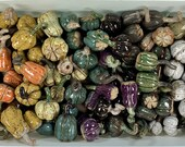 Tiny decorative ceramic pupmkins // Decorative stoneware pumpkins // handmade pumpkin - READY TO SHIP