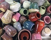 Miniature Pottery in Assorted Sizes and Colors // Artist's Choice Grab Bag // Tiny Pots, Bowls, Jars and Cups  - READY TO SHIP