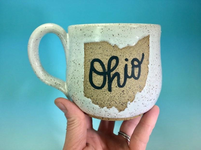 Ohio Mug in White // Hand...