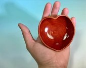 Red Heart-Shaped Small Bowl // Jewelry Dish, Catch all, Ring dish, Ramekin // Gifts for Valentines - READY TO SHIP