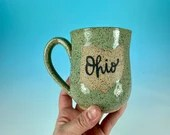 Ohio Mug in Turquoise // Handmade Ceramic Mug // Gifts  for Ohioans, Travelers or College Students - READY TO SHIP