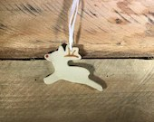Ornament - Rudolph Reindeer - Ceramic – READY TO SHIP