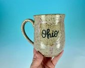 Ohio Mug in Pale Pink // Handmade Ceramic Mug // Gifts  for Ohioans, Travelers or College Students - READY TO SHIP