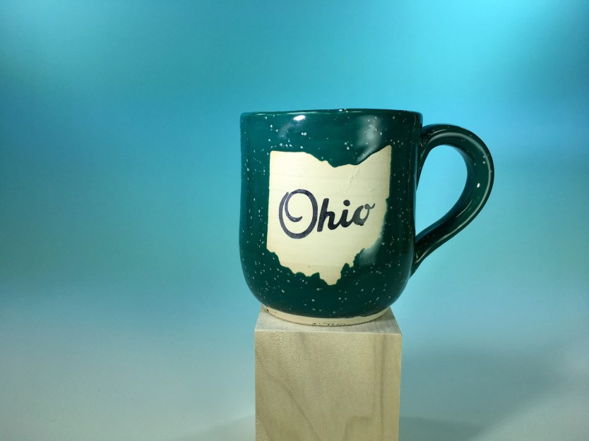 Mug - Ohio Green Speckled...
