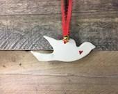 Dove Ornament - Ceramic B...