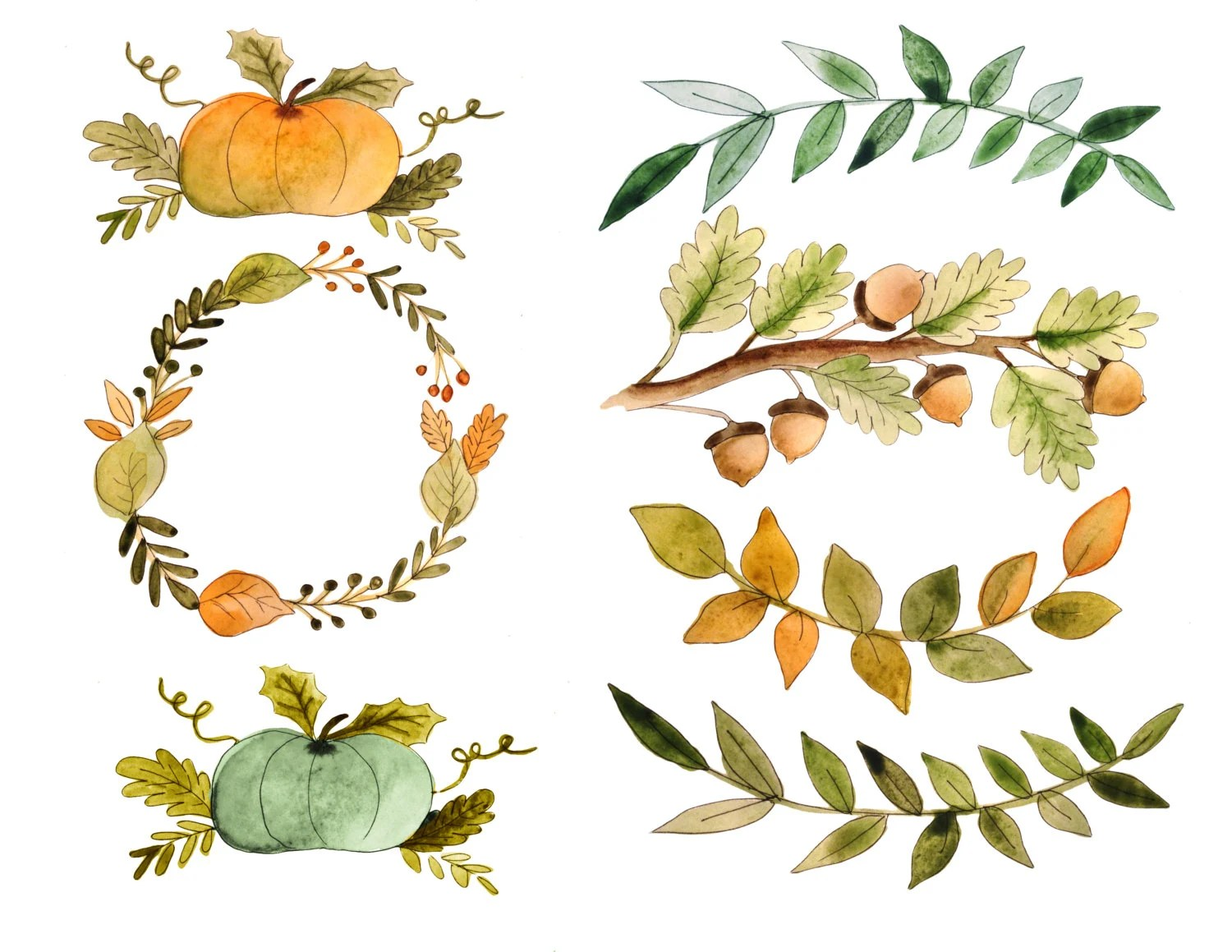Fall Clipart Watercolor Fall Clipart Fall Quotes