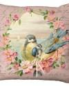 Pink Blossom Framed Bird Pair Choice Of 14x14 16x16 18x18 Etsy