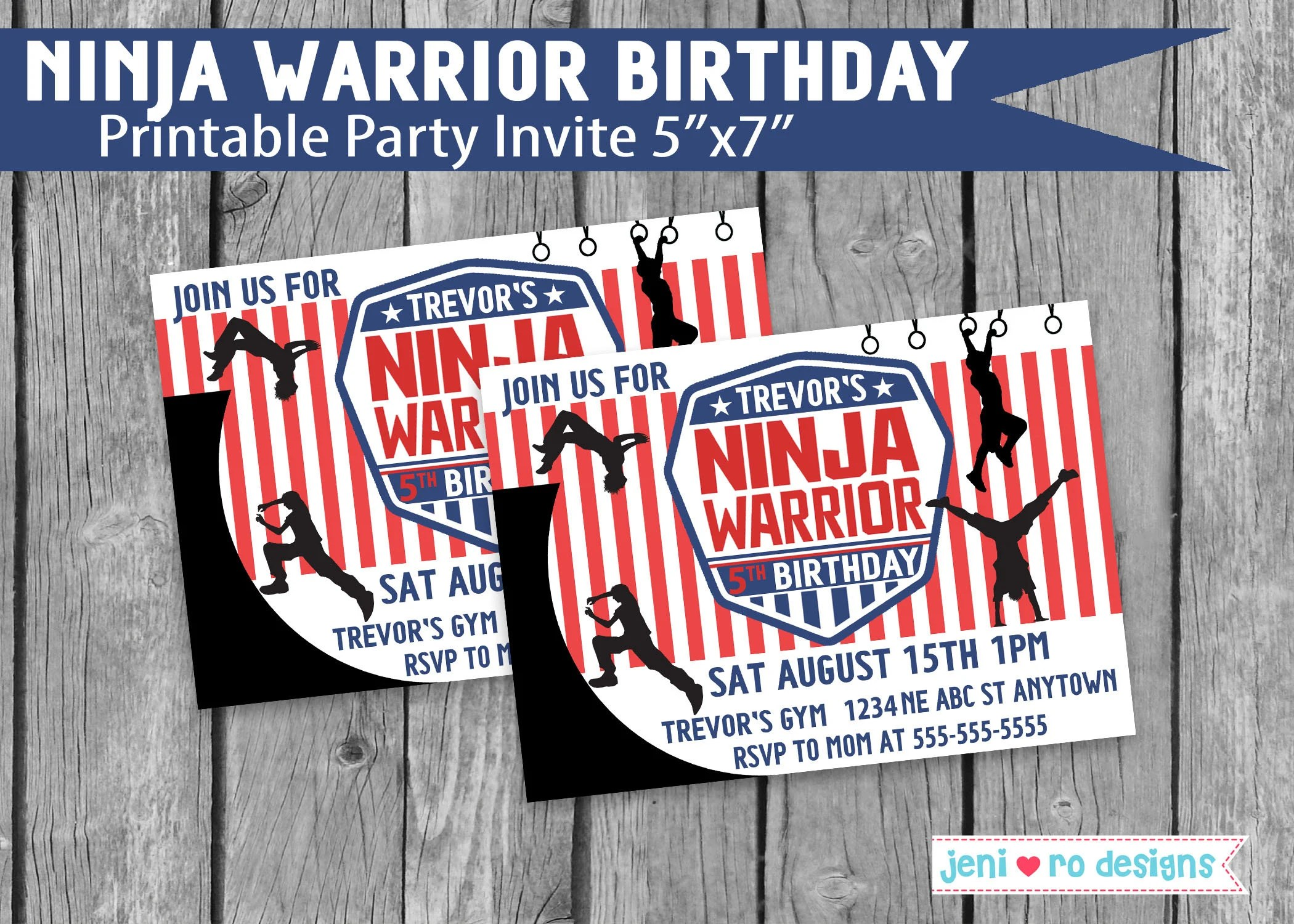 ninja warrior birthday parkour party