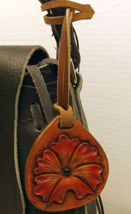 Handbag charms, leather c...