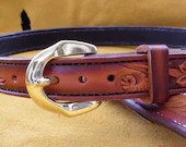 Custom leather belt, West...