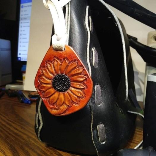 Floral charm, handmade le...
