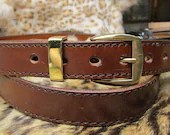 Mens brown dress belt , e...