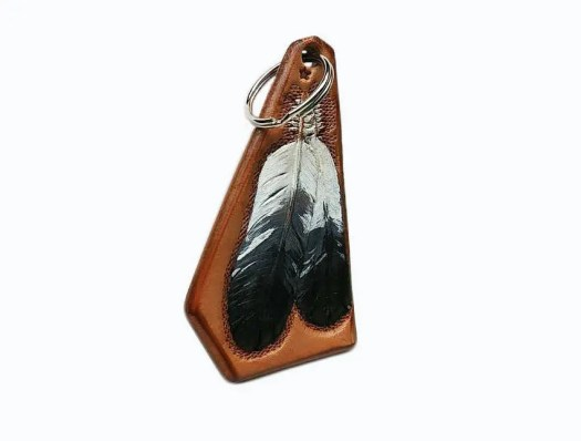 Eagles feathers keychain,...