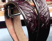 Handmade leather belt, cu...