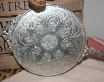 antique apollo studios silver hand held vanity mirror filagree new york 1920s sale