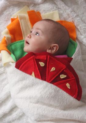 Halloween Baby Burrito Blanket
