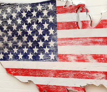 HD Decor Images » USA Wooden Flag Map Art Large US Map Art Wooden Stars and   Etsy image 0
