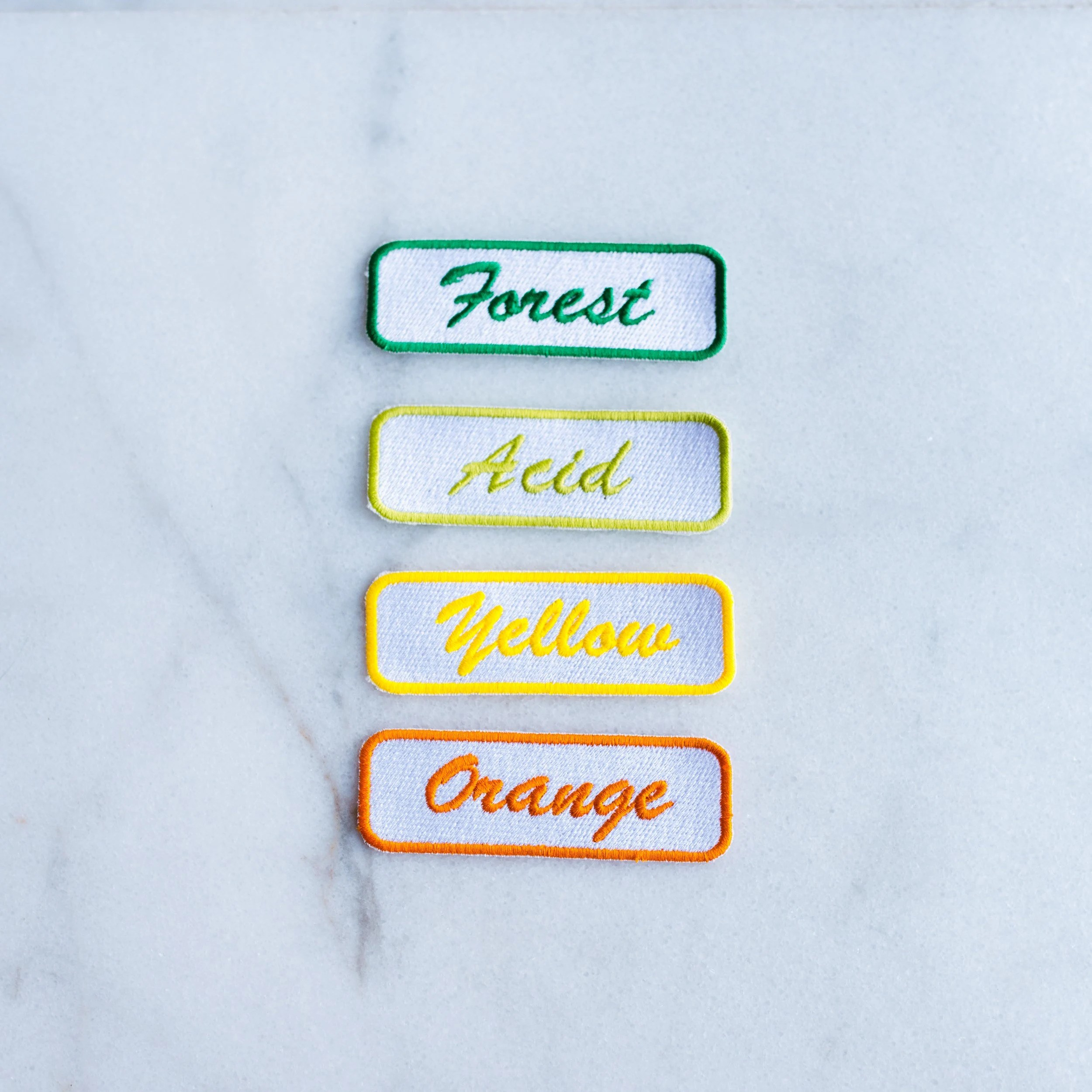 Custom Mechanic Name Patch  Name Tag Patch  Personalized Yellow