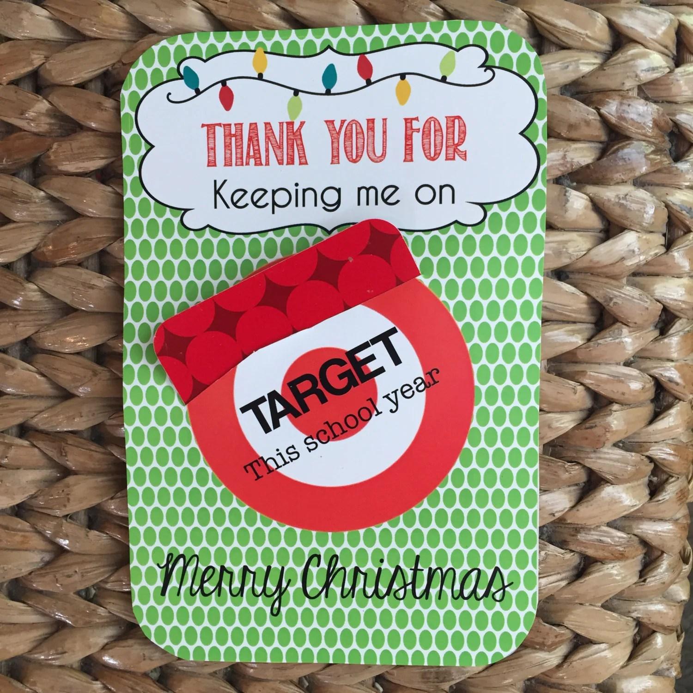 Christmas Printable For Teacher Target T Card