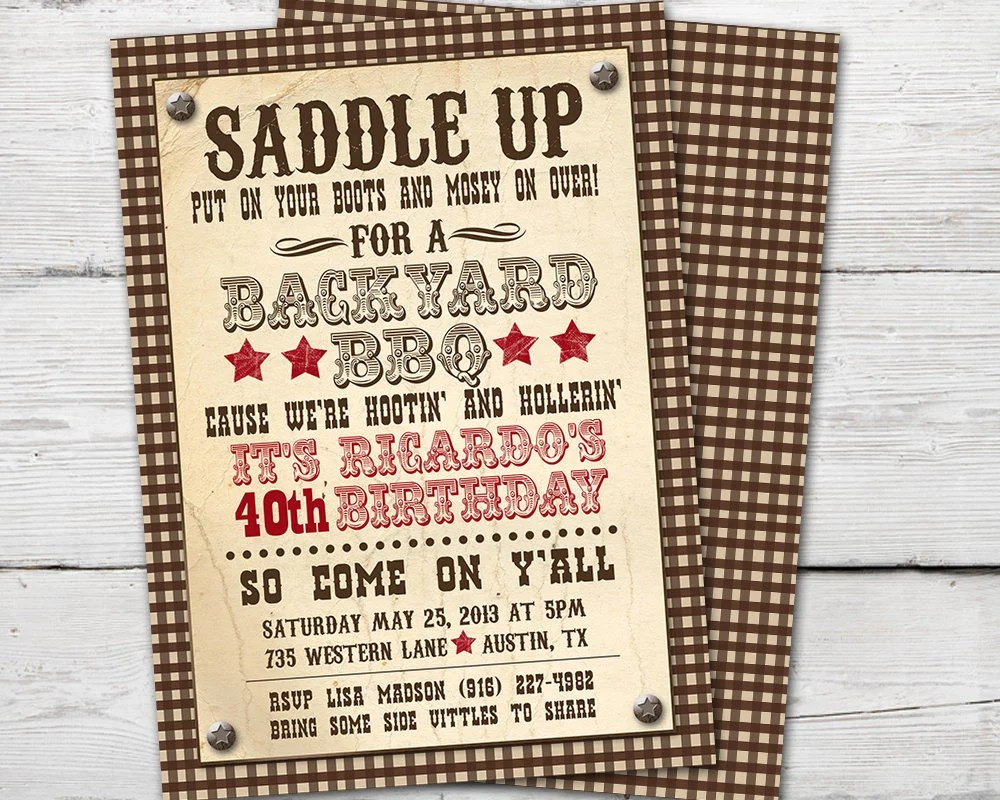 adult western invite etsy