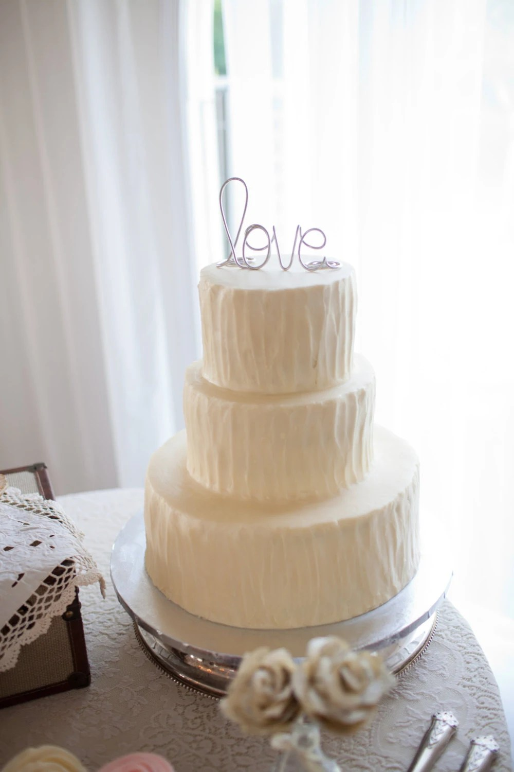 Simple Classy Love Wedding Cake Topper   Etsy image 0