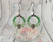 Green wreath style drop e...