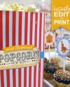 Popcorn Bag Printable Template Instant Download Circus Etsy