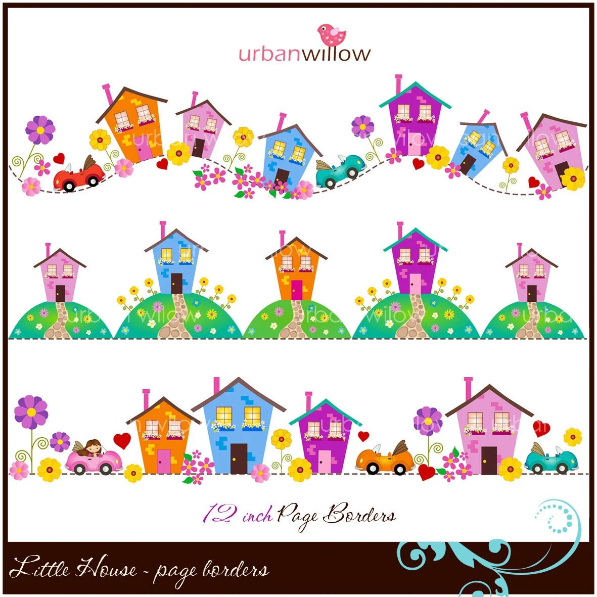 Little House Clip Art Page Borders Amp Files