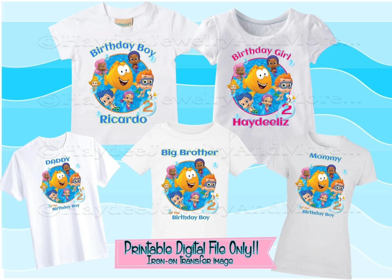 Bubble Guppies Birthday Boy Girl Printable Iron On