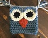 Crochet Owl Coffee Cozy-Choice of Colors