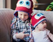 Red Car Earflap Hat- Sizes available newborn to adult
