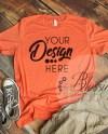 Heather Orange T Shirt Bella Canvas Mockup 3001 Orange Unisex Etsy