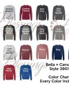 Bella Canvas 3901 Color Chart Every Color Digital File Shirt Etsy