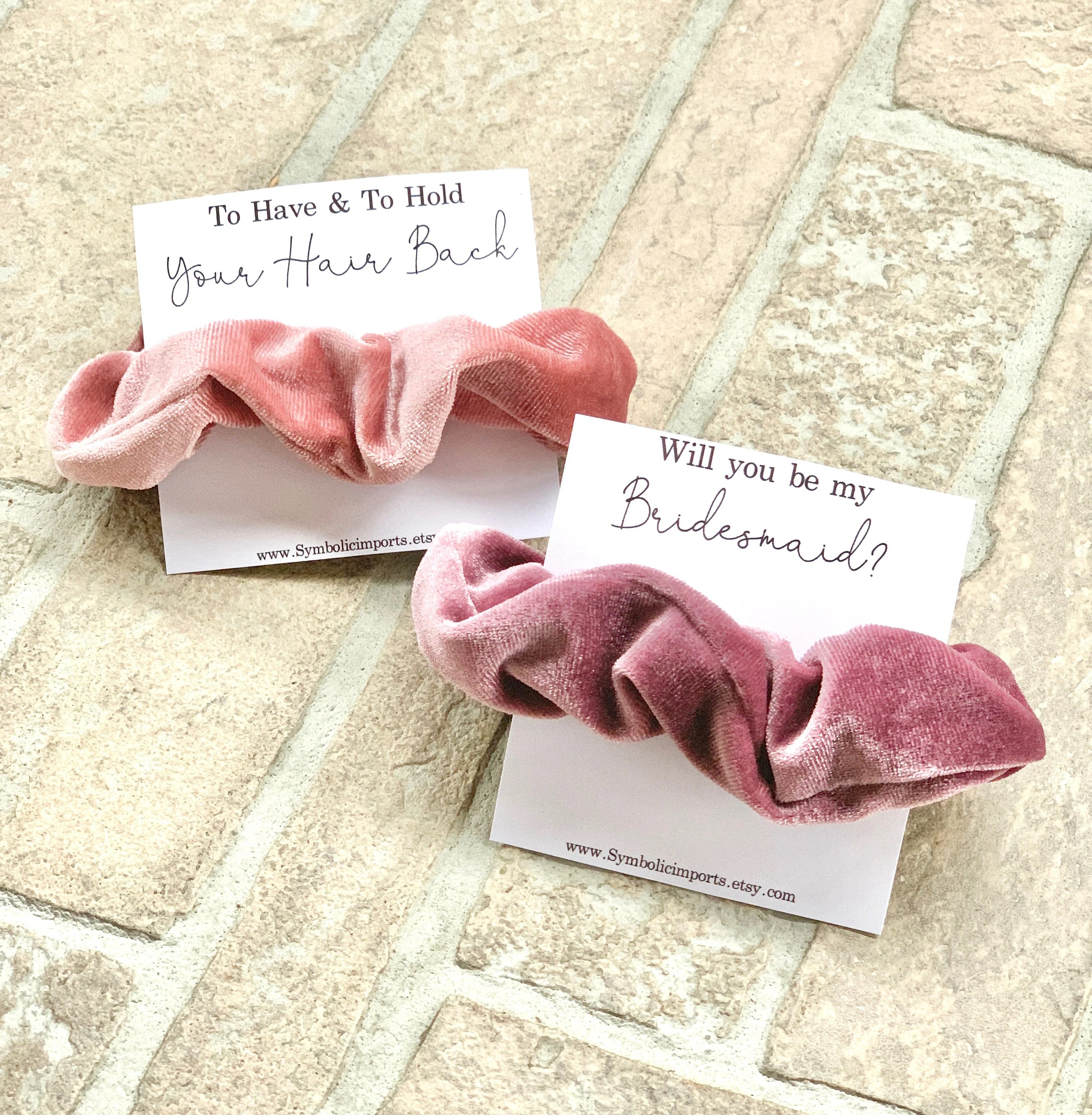 qqqqAqqqqdqq                                                                                                                                                                                    Scrunchie Hair Tie Bridesmaid Gift | Blush Pink, Rose Gold Hair Tie Favors, Bridesmaid Proposal Gift, Wedding Party Bridesmaid Hair Ties                                                                    SymbolicImports                               5 out of 5 stars                                                                                                                                                                                                                                                          (15,529)                                                      CA$5.18                                                              Bestseller