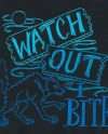 Watch Out I Bite Werewolf Embroidered Waffle Weave Hand Towel Etsy