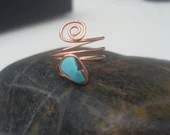 Turquoise Copper Midi rin...