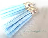 Powder Blue Suede Leather...