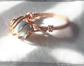 Baby Blue Copper Ring Siz...