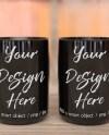 Two Black Coffee Mug Mockup Two Blank Coffee Cup Mock Up Etsy