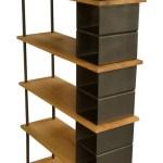 Modern Large Wood And Metal Industrial Bookshelf