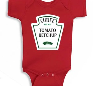 Ketchup Halloween costume for babies