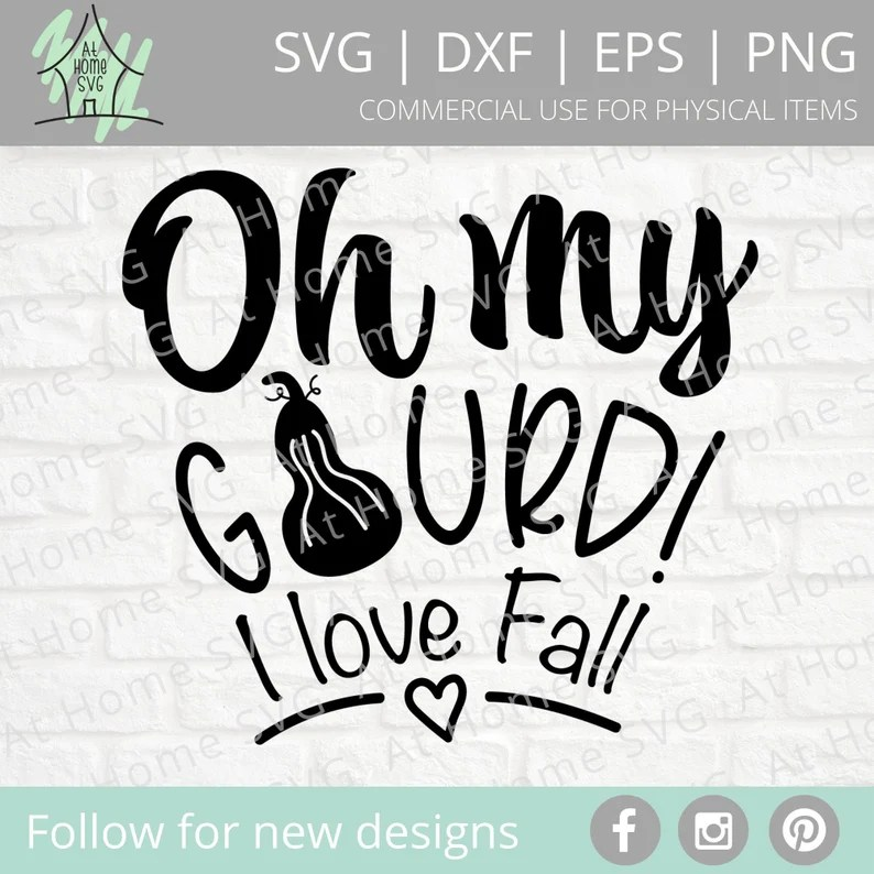 Download Oh my Gourd SVG I love Fall SVG Cut files for Cricut | Etsy
